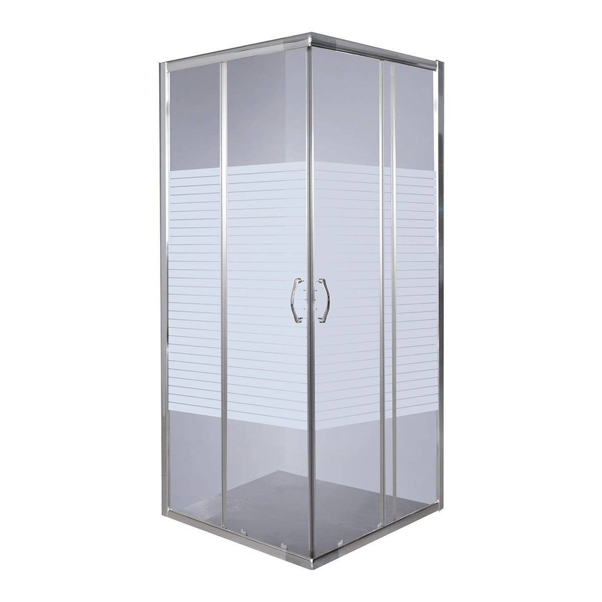 box doccia quattro rettangolare (68-78) x(88-98) h190cm vetro temperato serigrafato 4mm