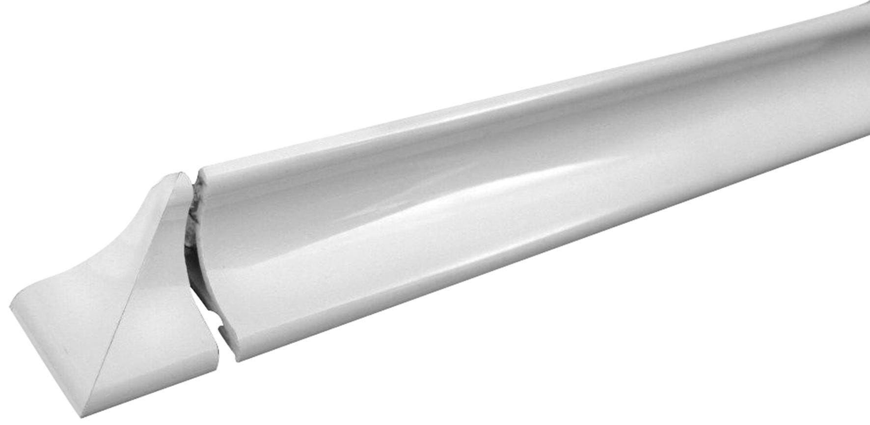 coprifilo angolare pvc bianco kit doccia 2 barre 125 cm taglio due vie