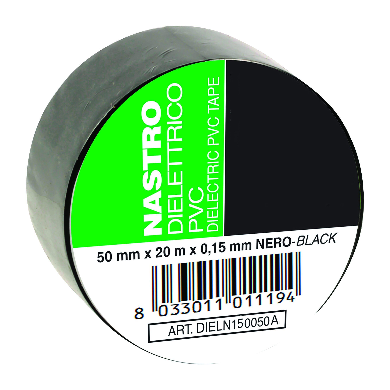 facot nastro adesivo pvc isolante altezza 5 cm lunghezza 20 m nero