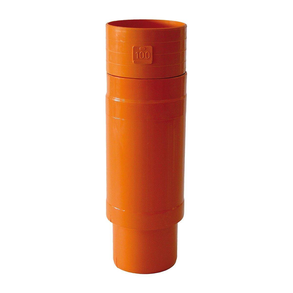 giunto riparazione Ø 125 mm pvc arancio 1 pezzo