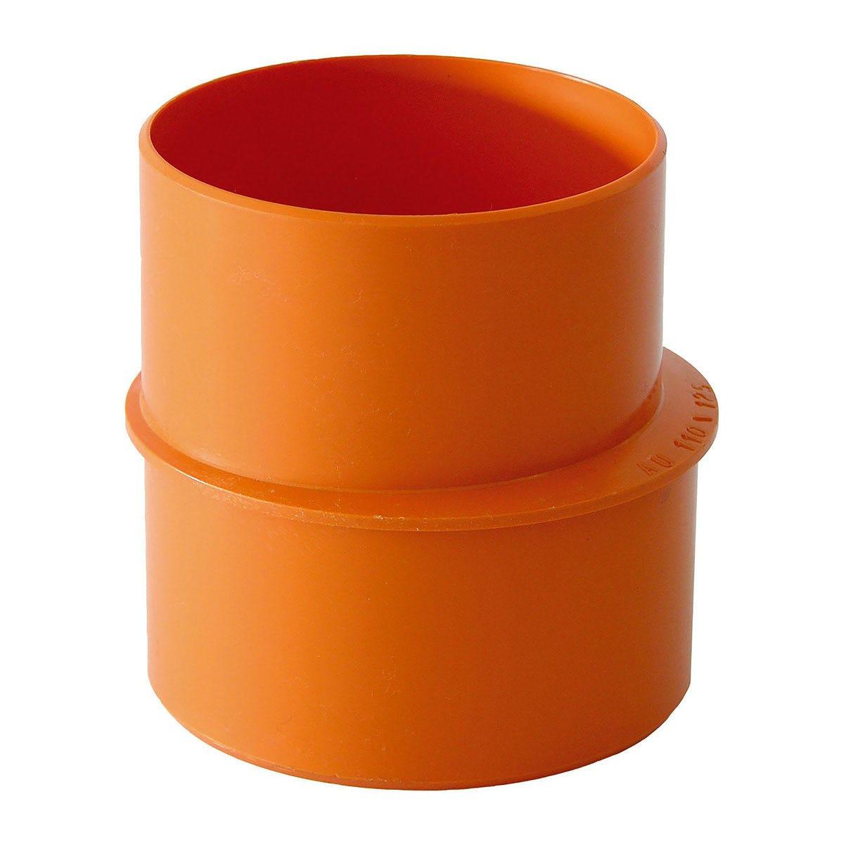 aumento Ø 100x125 mm pvc arancio