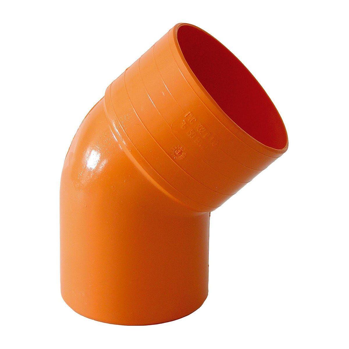 curva 45° Ø 125 mm pvc arancio