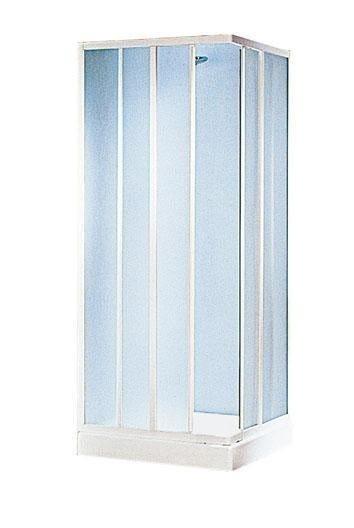 box doccia grancaym rettangolare (65-75) x(80-90) h185cm acrilico 1,8mm profili bianchi