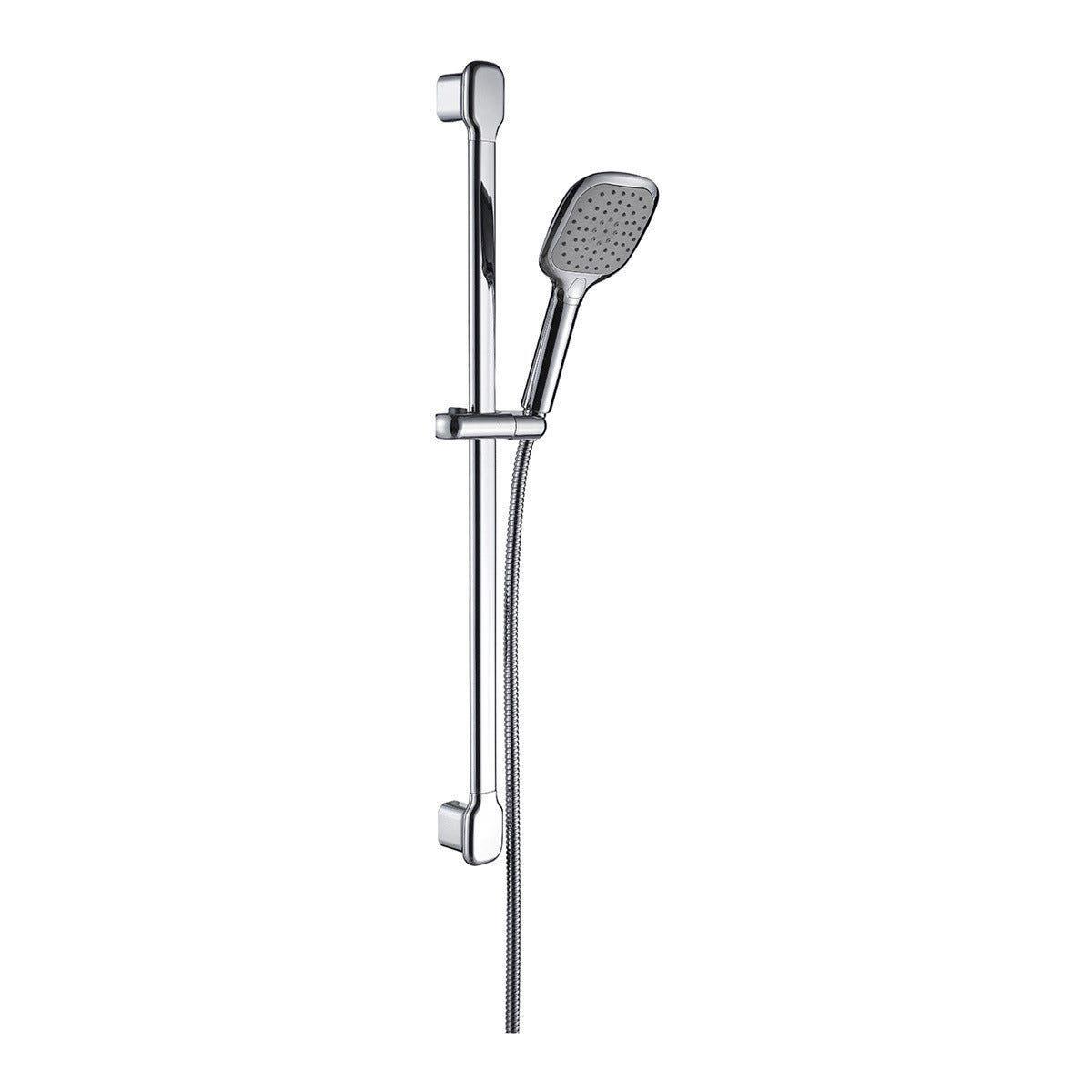 saliscendi doccia cascadia 2 getti con pulsante acqua stop cromo