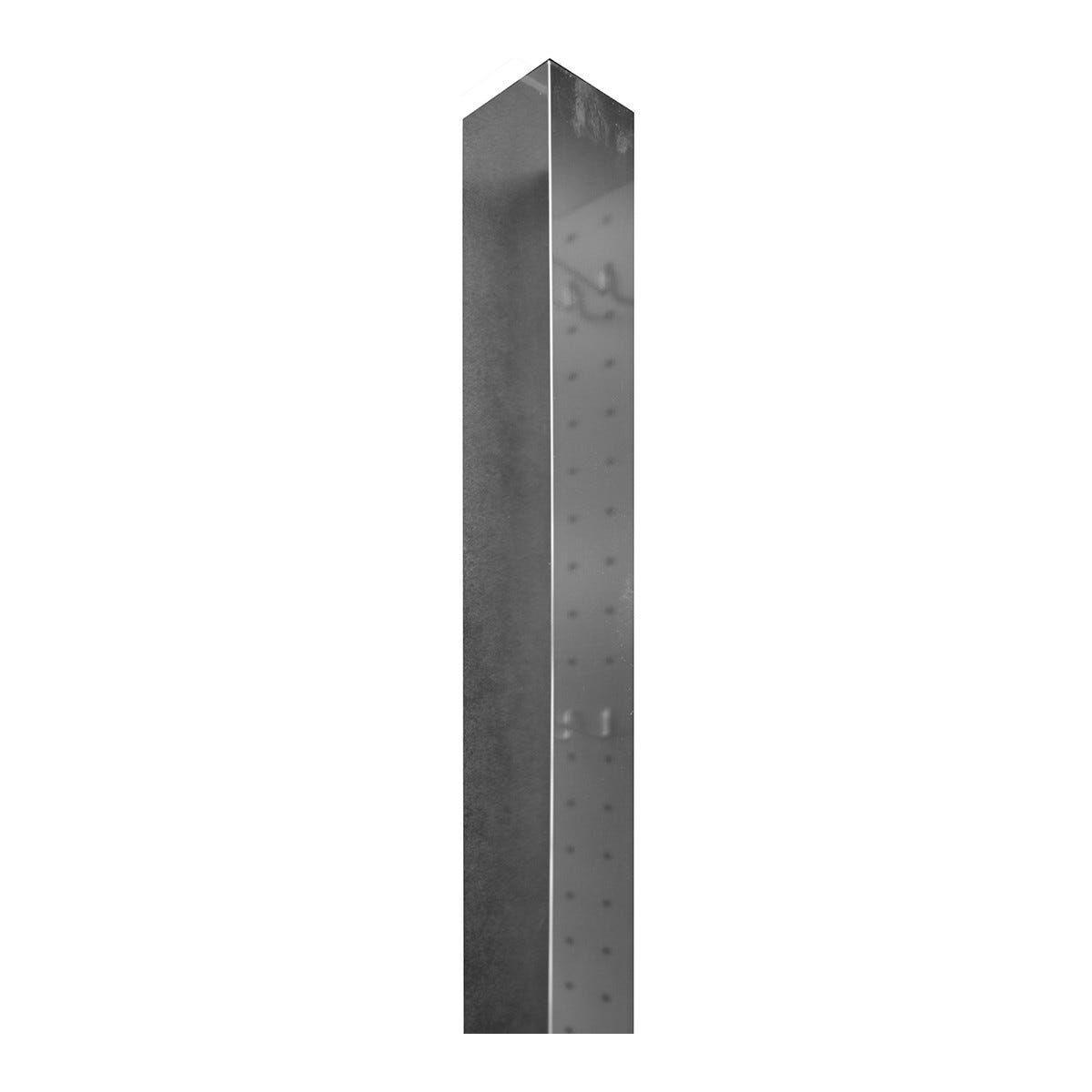 profilo di compensazione serie roller, slide in alluminio cromato 4x4x200 cm (lxpxh)