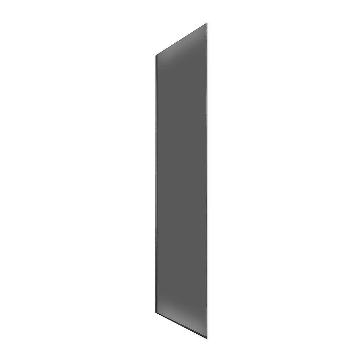 lato fisso roller (77-78,5) h200cm vetro temperato fume' 8mm profili cromati