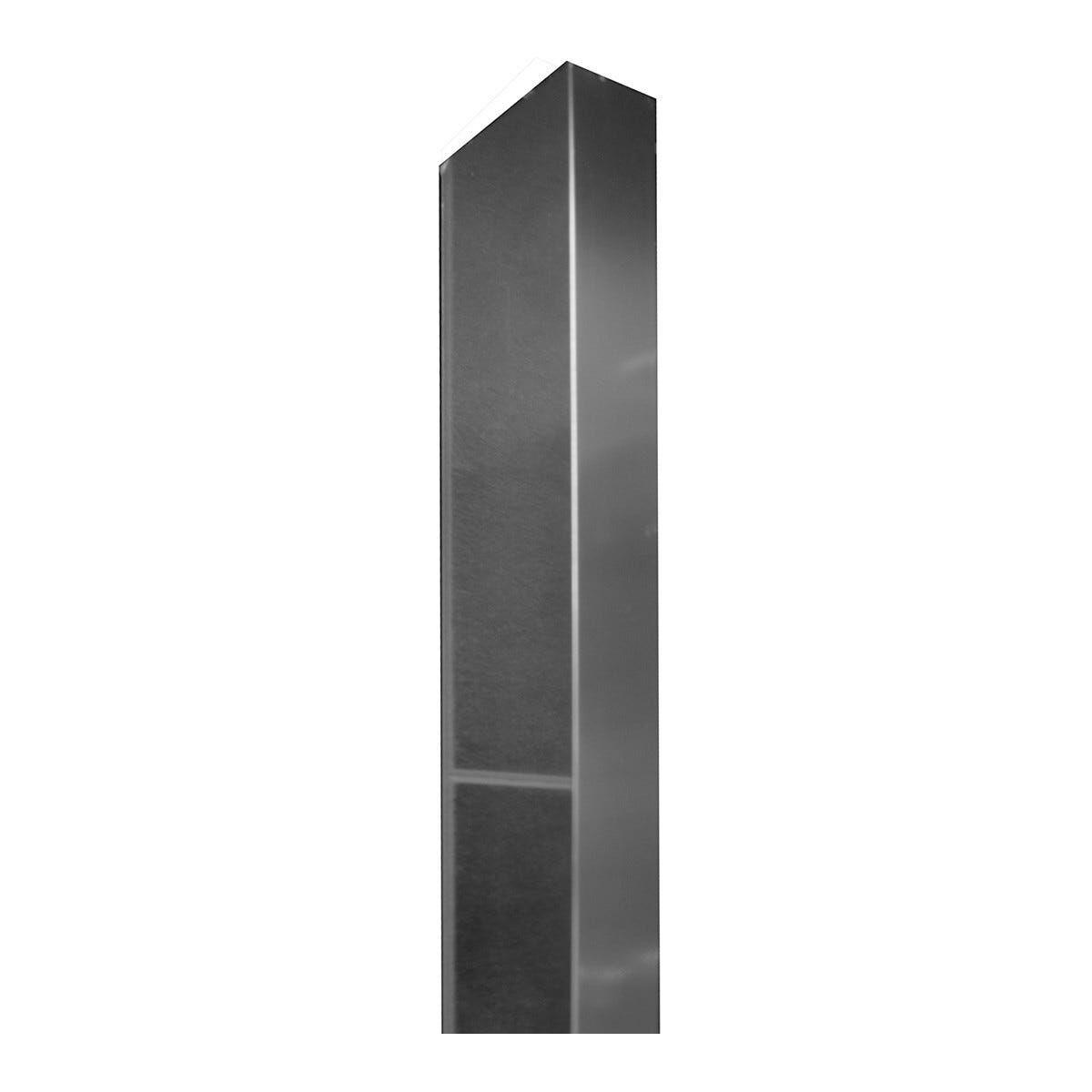 profilo di compensazione serie roller, slide in alluminio cromato4x2x200 cm (lxpxh)