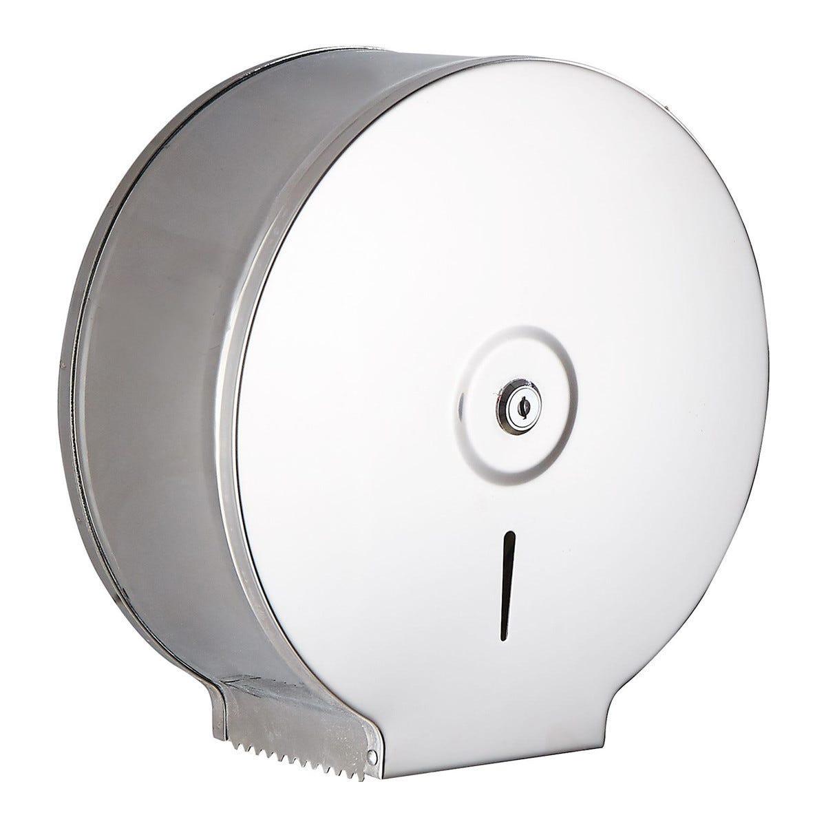 Dispenser Di Carta Igienica In Acciaio Inox Fissaggio A Muro 27,5x28,4x11,6 Cm