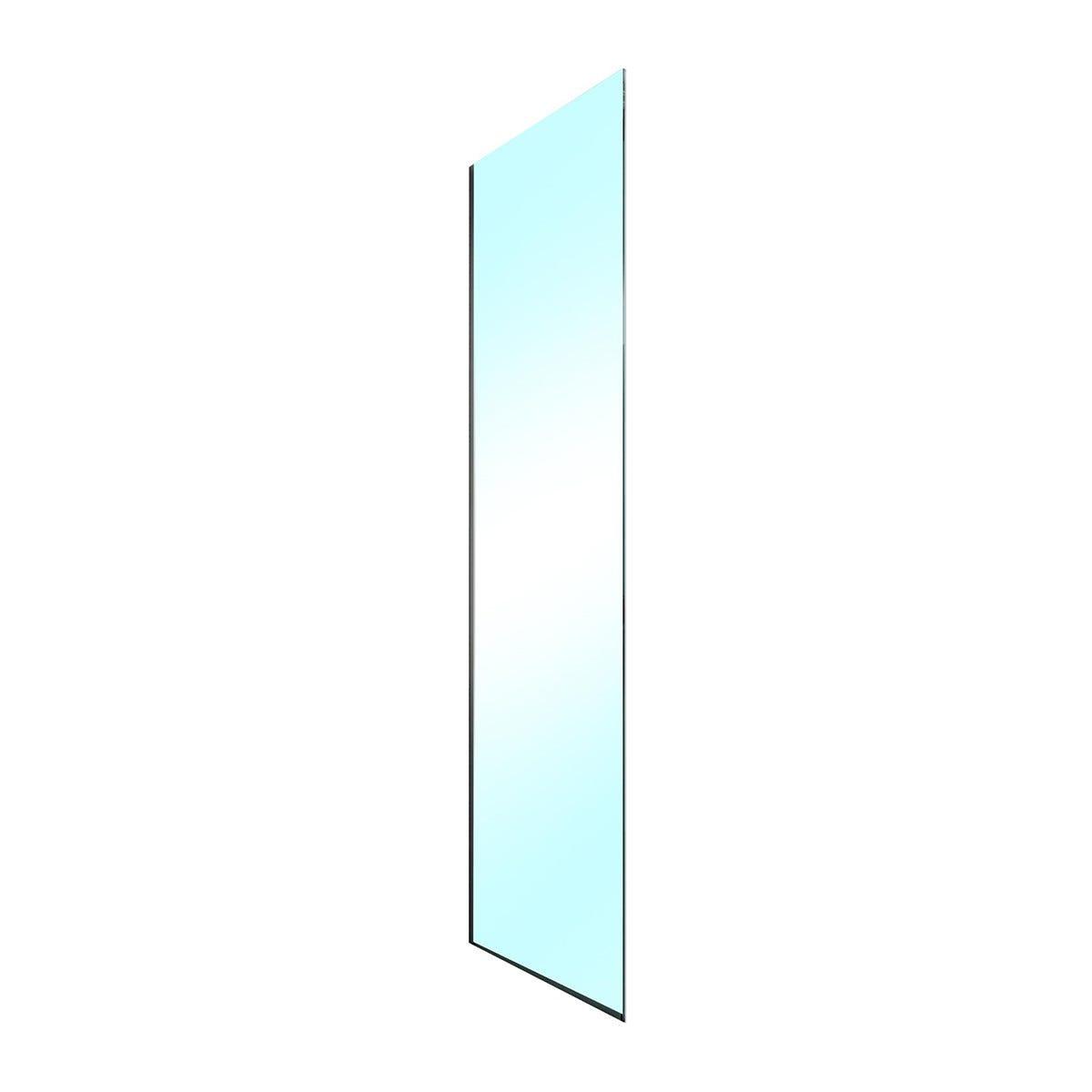 lato fisso roller (77-78,5) h200cm vetro temperato trasparente 8mm profili cromati