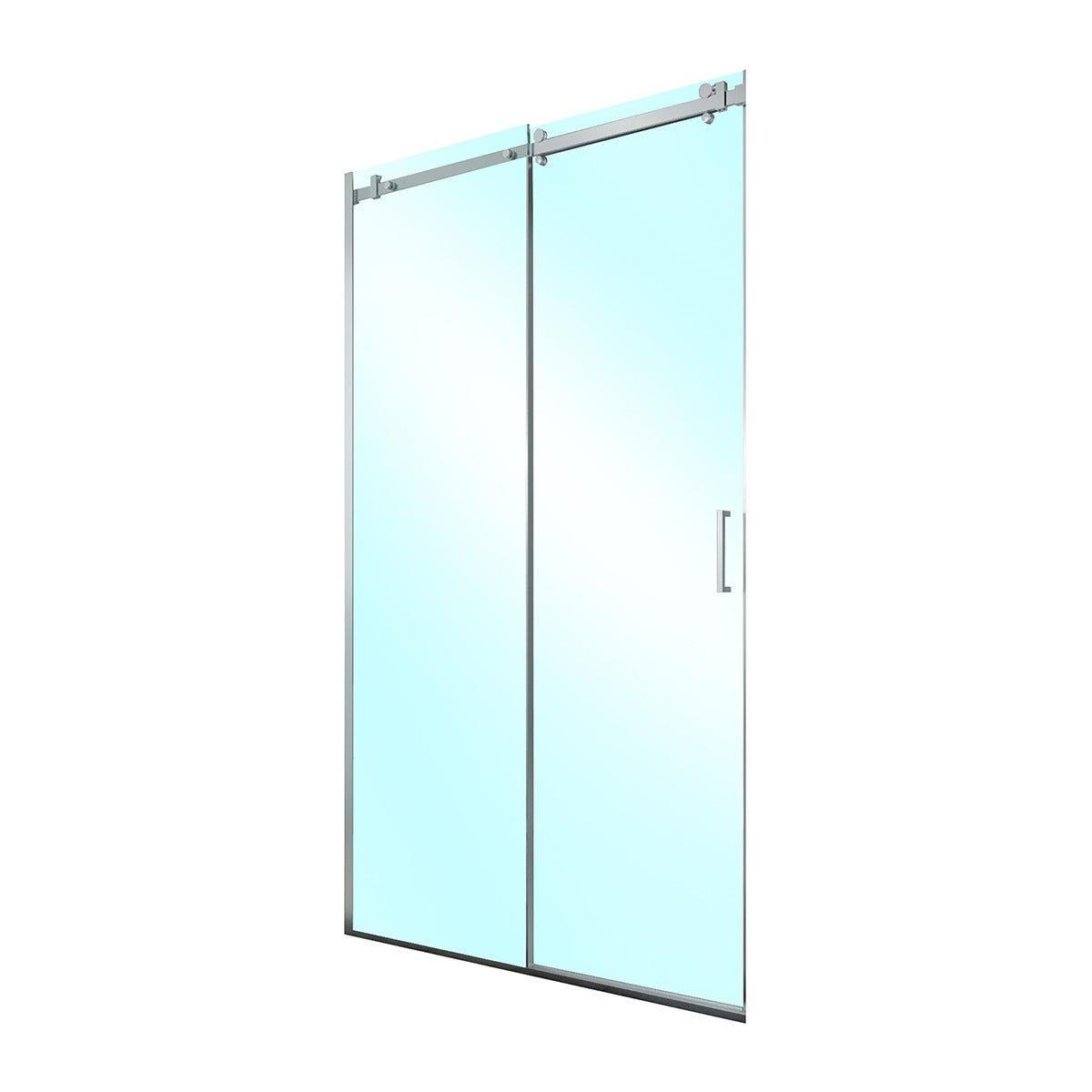 porta doccia roller scorrevole 117-119,5 h200cm vetro temperato  8mm trasparente profili cromati