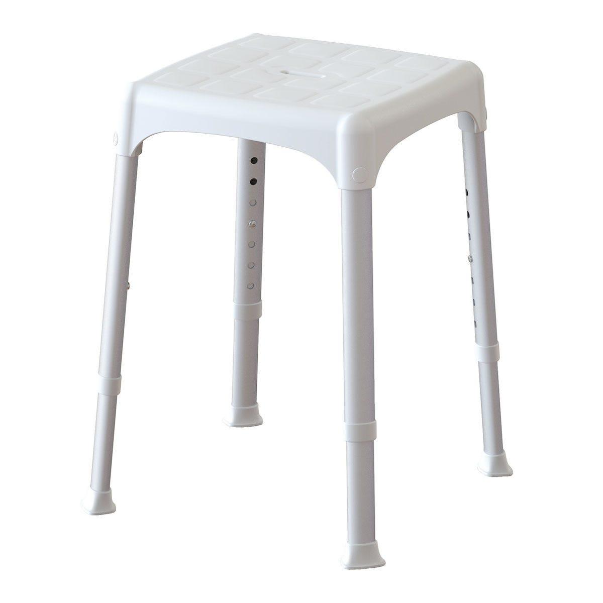 Sgabello Regolabile Bianco 30,5x30,5 Cm Altezza Da 39 A 54 Cm