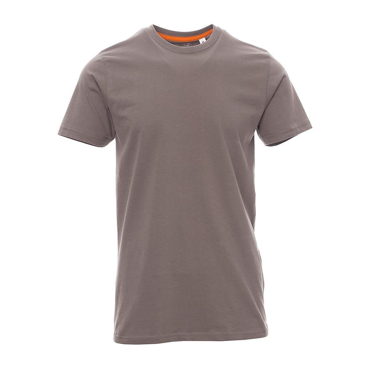 5 T Shirt Manica Corta Taglia Xxl Grigio 100% Cotone