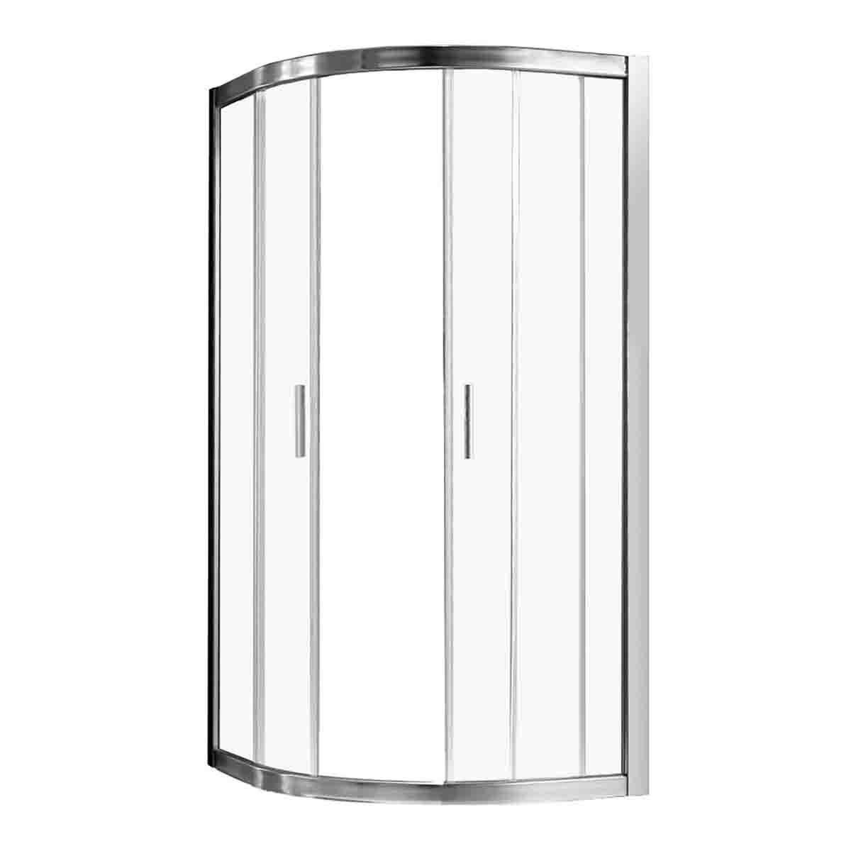Box Doccia Alnair 1/4 Cerchio H190 Cm (68-72) X (87-91) Cm Vetro Temperato 6 Mm Trasparente
