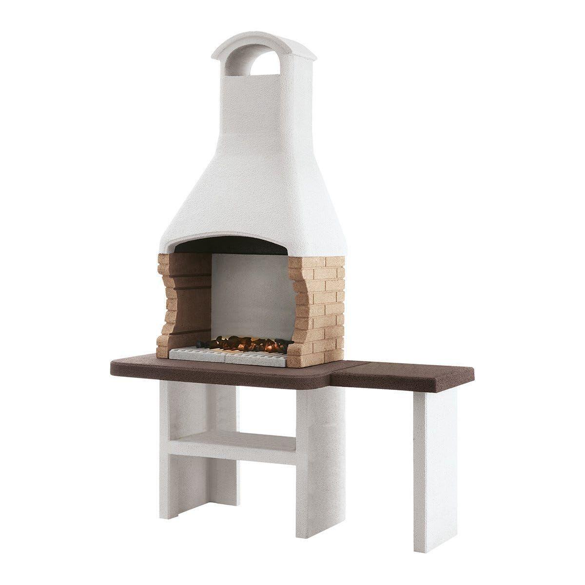 palazzetti barbecue  jesolo 160x71x238 cm legna griglia 68x40 cm peso 455 kg