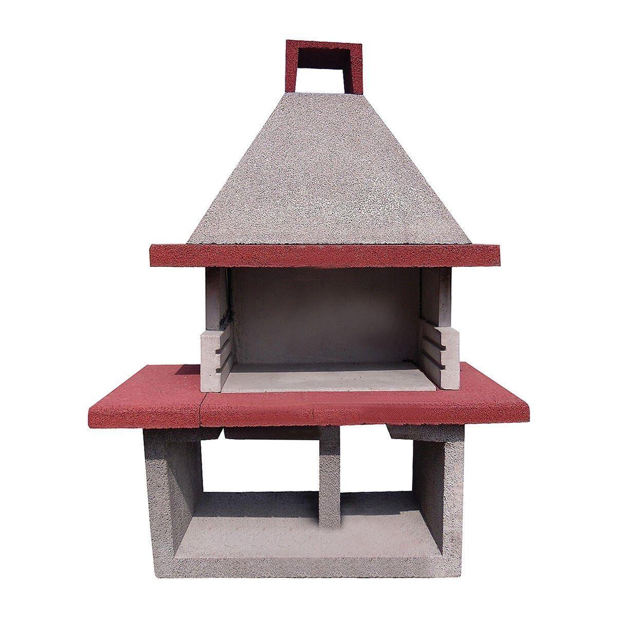Barbecue In Cemento Barbagia 160x80x225 Con Bistecchiera Da 80 Cm A Legna E Carbonella
