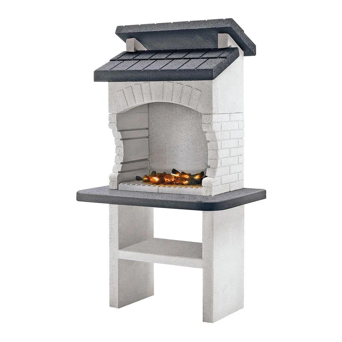 palazzetti barbecue  olbia 110x71x176 cm legna griglia 68x40 cm peso 560 kg