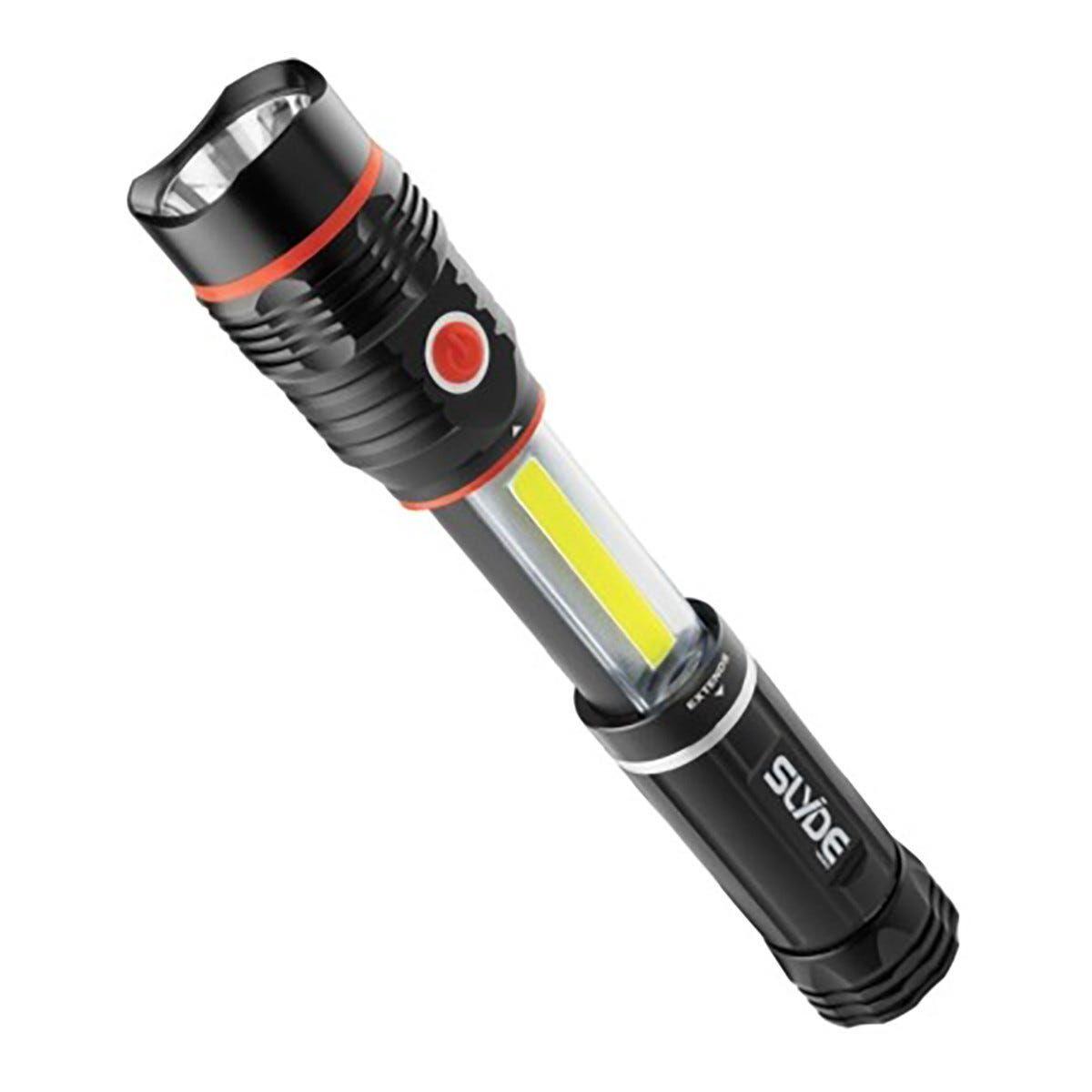 proxe torcia led frontale slyde con lampada ispezione e doppia accensione 250+190 lumen