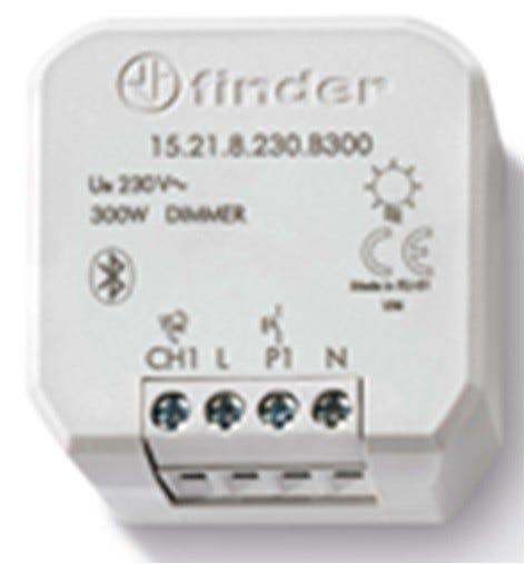 finder dimmer  yesly da incasso carico lampada 150w 7 funzioni 1 uscita 230v