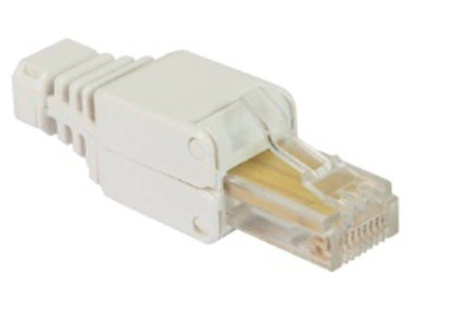 FANTON Spina Modulare Plug  Utp Cat5e Per Cavo Flessibile / Rigido A Crimpaggio Senza Utensili