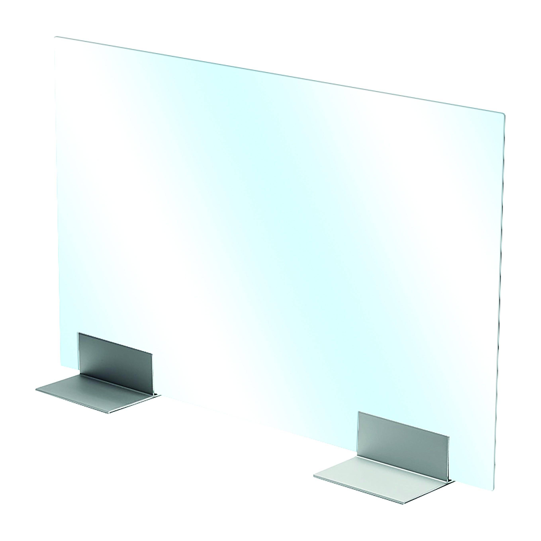 Supporto Alluminio Per Plexiglass/vetro Per Separazioni E Divisori 15x20x7 Cm (Lxpxh)