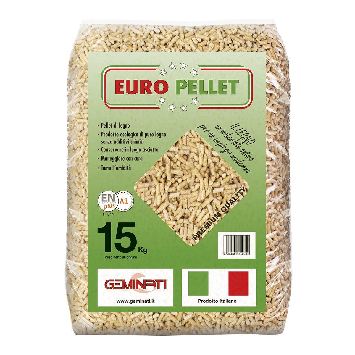 Pellet 80% Abete 20% Faggio En Plus 15 Kg