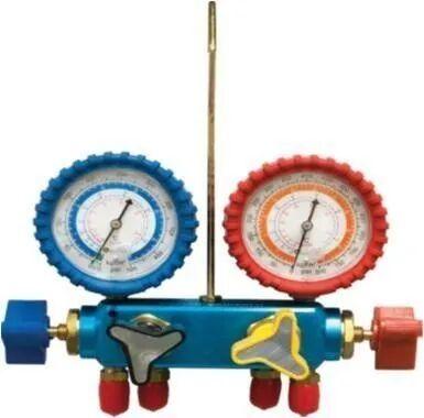 ARNO_CANALI Kit Gruppo Manometrico Analogico 4 Vie Per Gas R32 E R410a Connessioni 5/16'' Sae