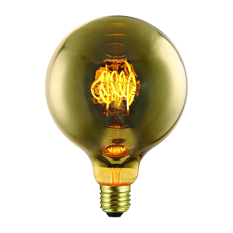 Lampadina Led Suprema Globo E27 4w=9w 70 Lumen 2200k Luce Calda Finitura Oro