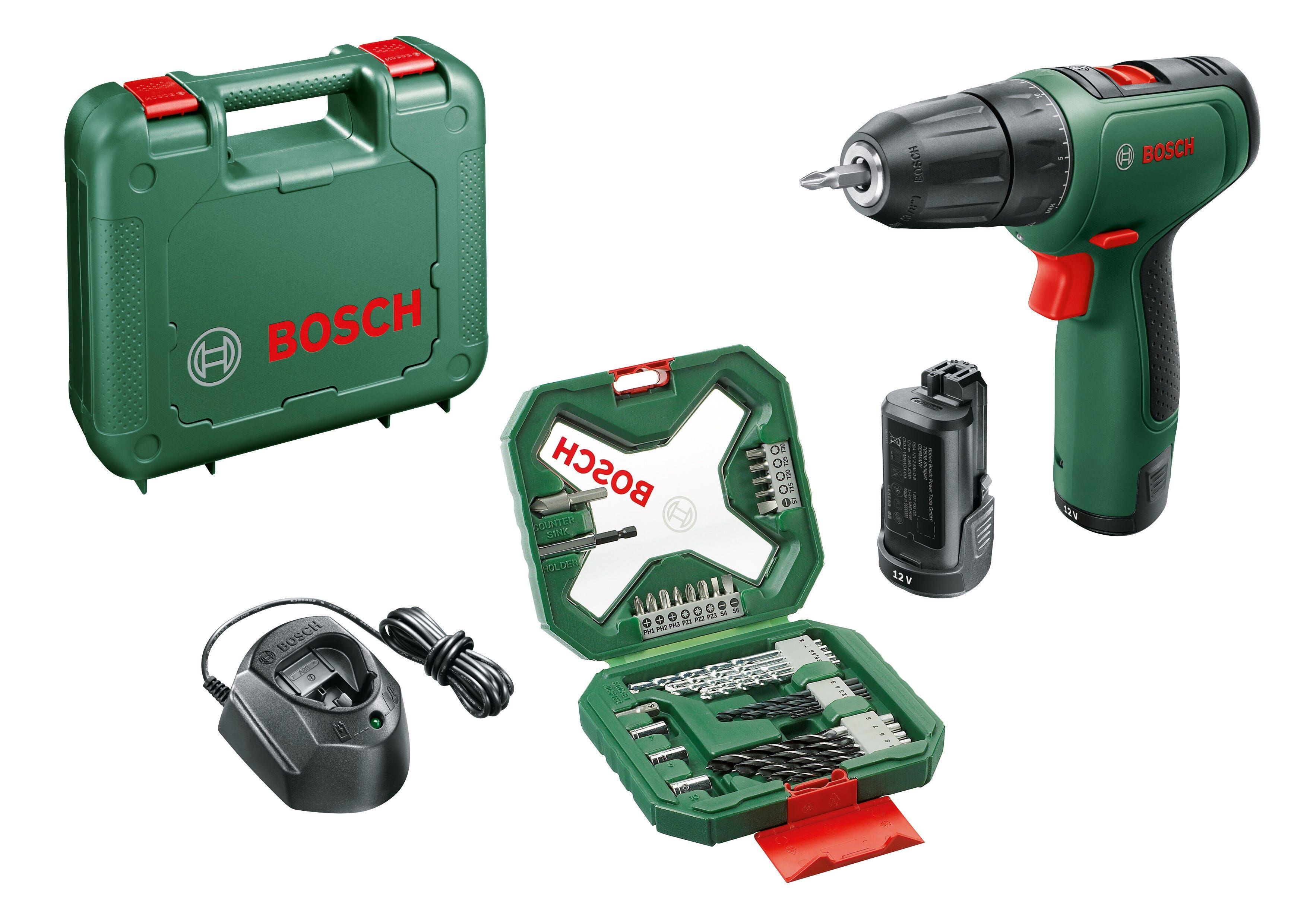 Bosch Trapano Avvitatore 12 V Easydrill 1200 2 Batterie Litio 1,5 Ah Set 34 Accessori