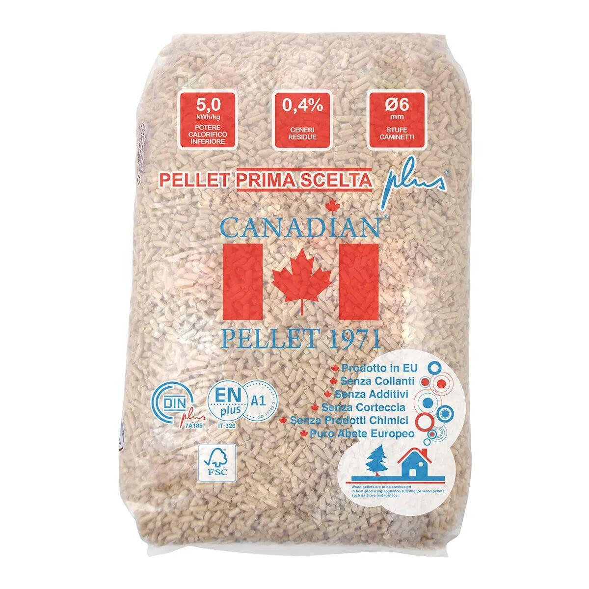 Pellet 100% Abete En Plus A1 Canadian 15kg