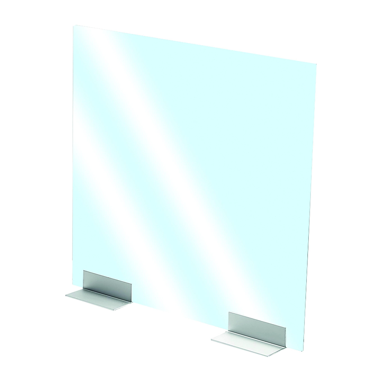 Supporto Alluminio Per Plexiglass/vetro Per Separazioni E Divisori 15x13x5,1 Cm (Lxpxh)