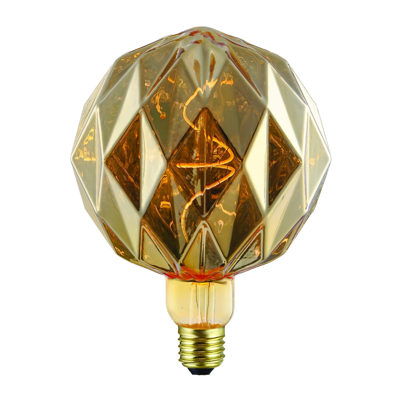 Lampadina Led Suprema Diamond E27 4w=12w 100 Lumen 2200k Luce Calda Finitura Oro