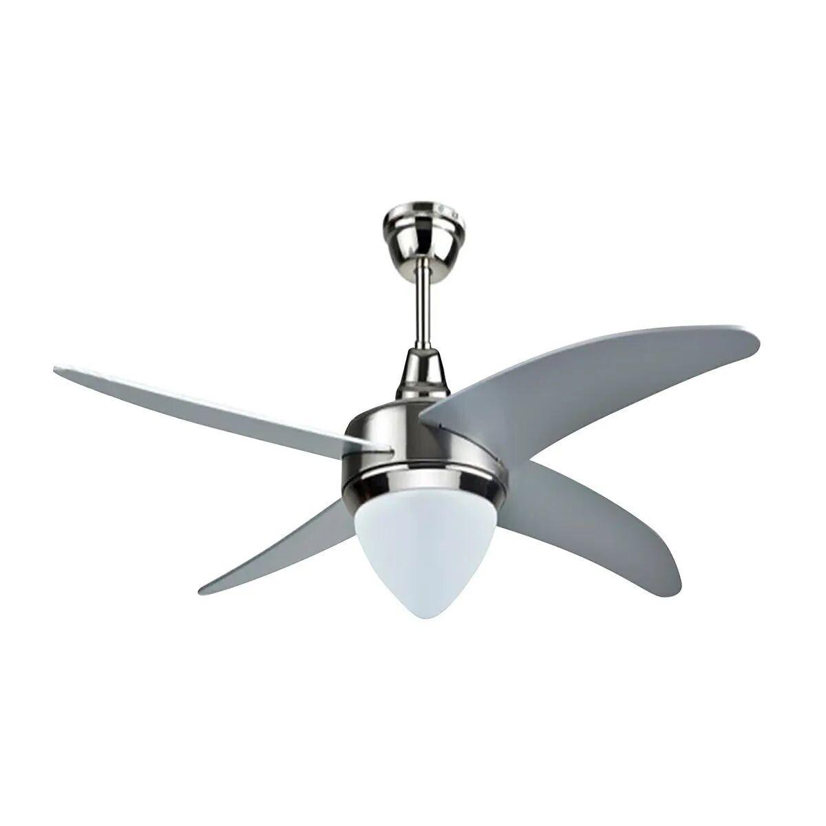 ventilatore da soffitto Ø 122 cm 4 pale silver con telecomando e luce funzione reversibilita