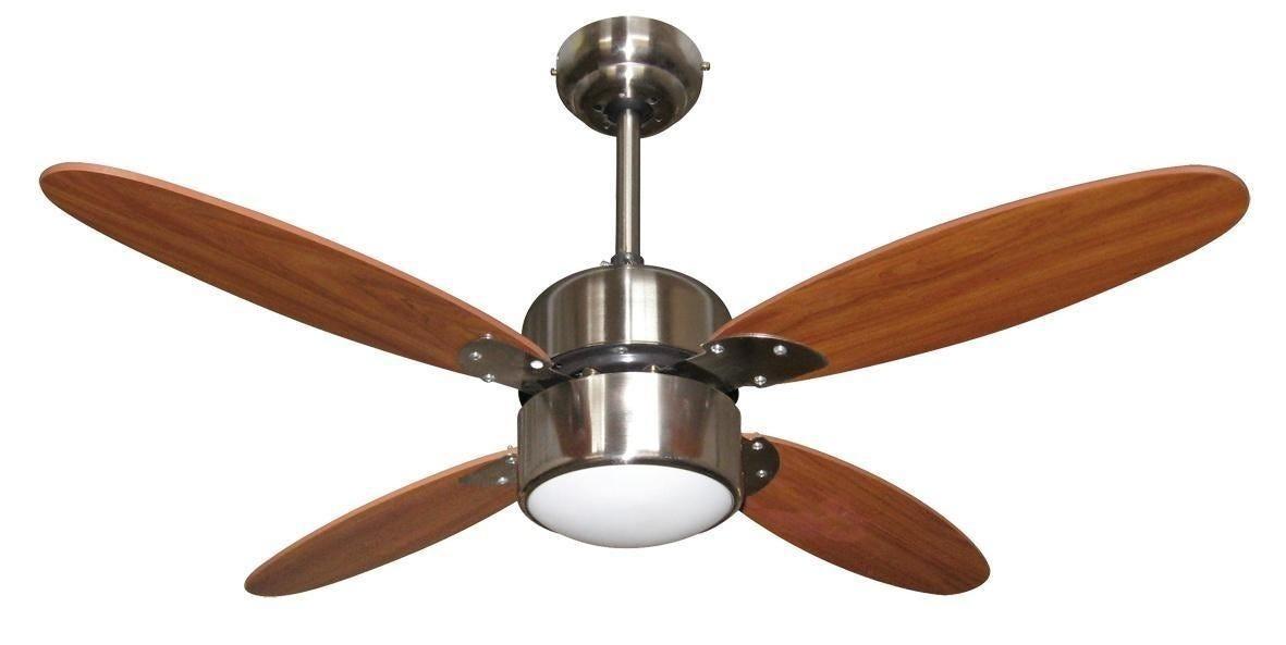 ventilatore da soffitto 4 pale Ø 107 cm in legno con luce e telecomando 3 velocita'