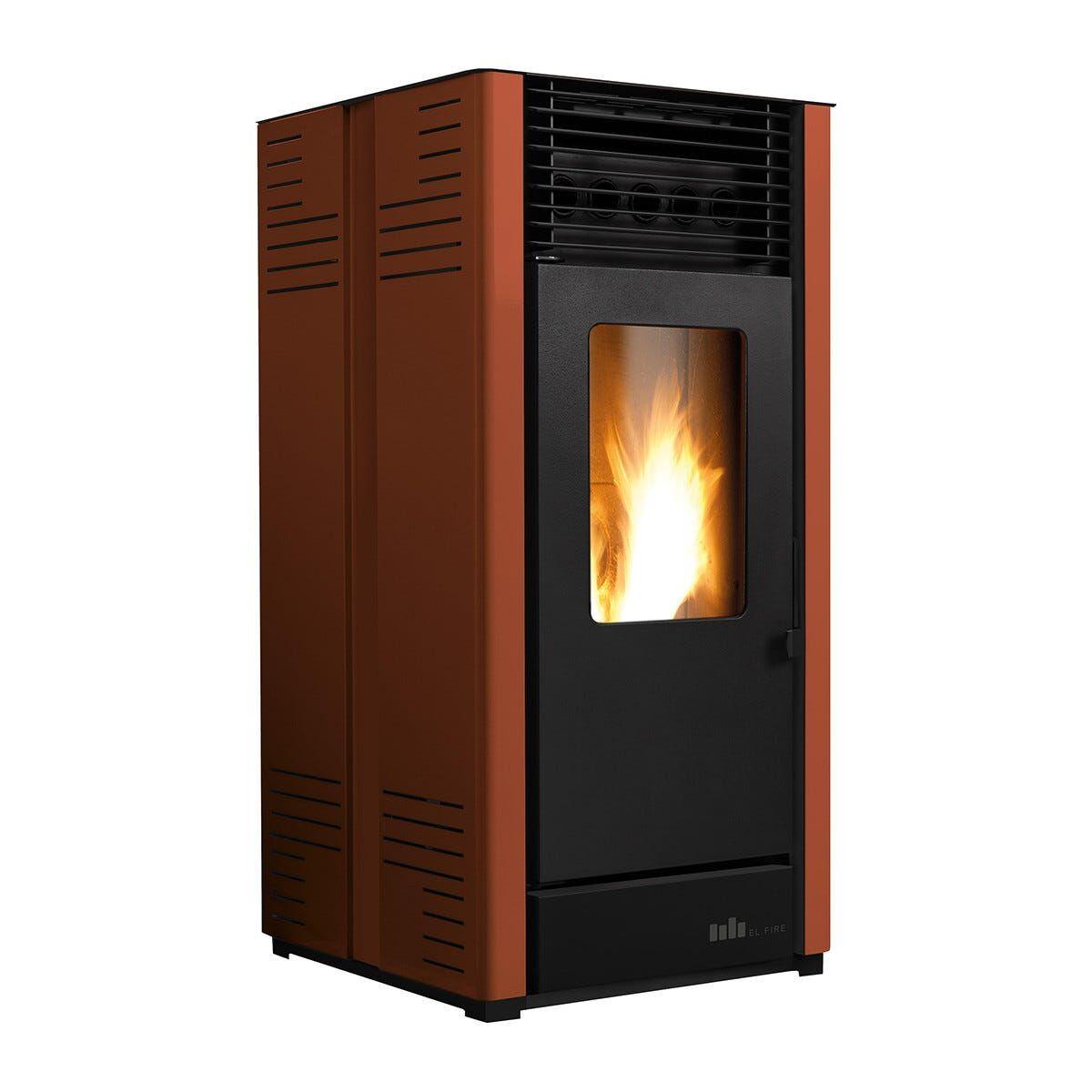 EL_FIRE Stufa A Pellet Ad Aria El.Fire Carlotta S1 Plus 10,28 Kw Bronzo