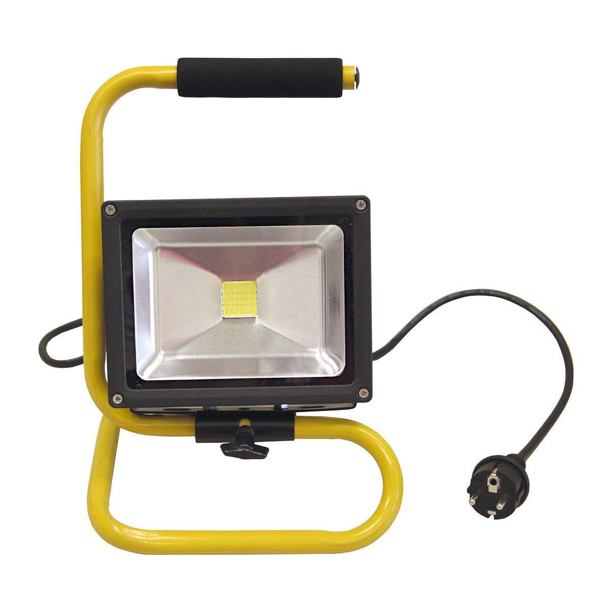 Proiettore Led Smd Intec Elios 20w 1600 Lumen 4000k Luce Bianca Colore Nero C/maniglia Ip65