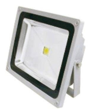 Proiettore Led Smd Intec Elios 30w 2400 Lumen 4000k Luce Bianca Colore Grigio Silver Ip65