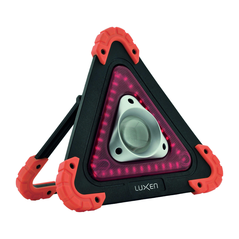 Lampada Led Cob 10w Ricaricabile Triangolare Arancio