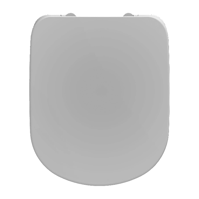 Sedile Wc Serie Gamma Termoindurente Bianco Cerniere Acciaio