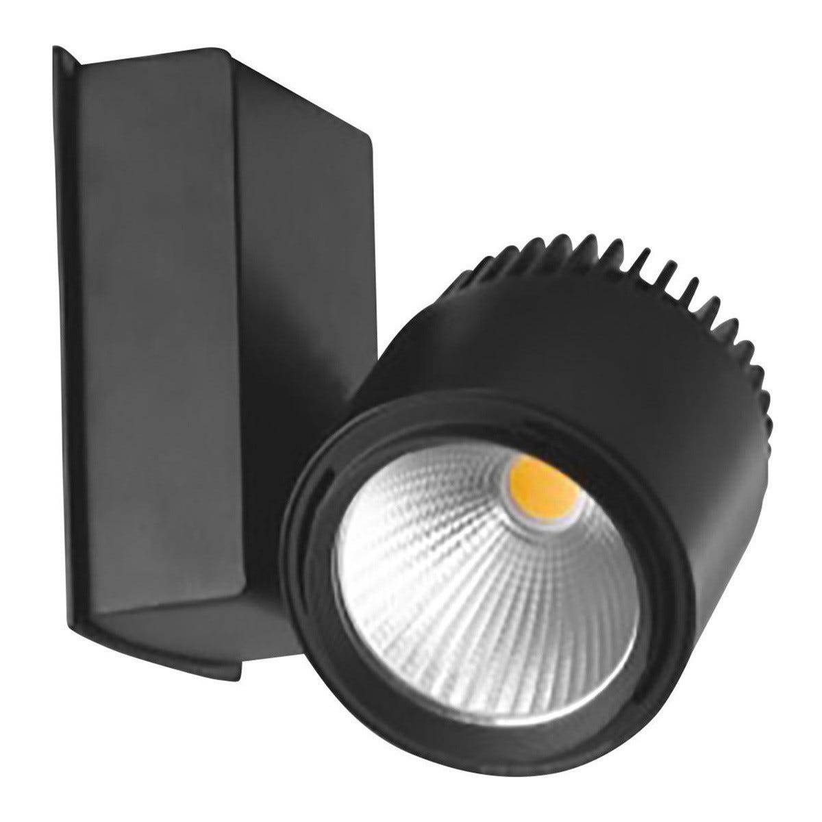 Proiettore Led Per Sistema A Binario Train 40w 4000 Lumen 4000k Colore Nero