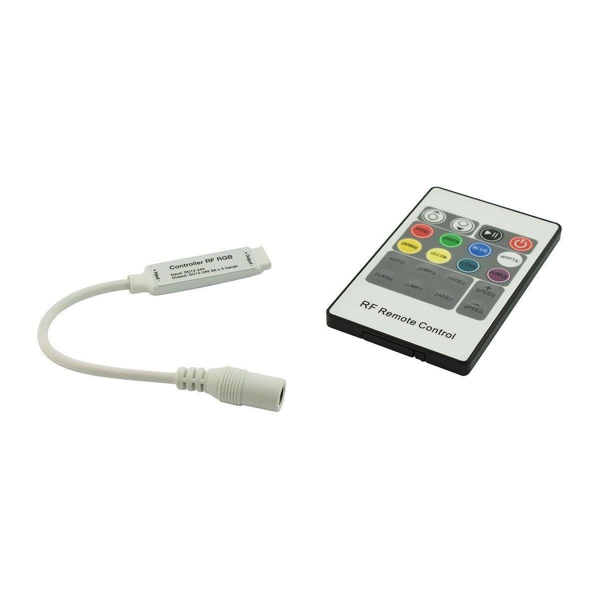 Mini Controller Rgb Con Telecomando Prismalux 12-24v 3 (Canali) X 2a