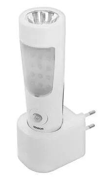torcia led ricaricabile con sensore luce di emergenza e luce notturna con doppio sensore