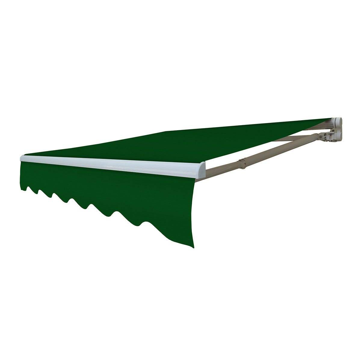 Tenda Da Sole A Barra Quadra Verde Tinta Unita 295x200 Cm (Lxp)