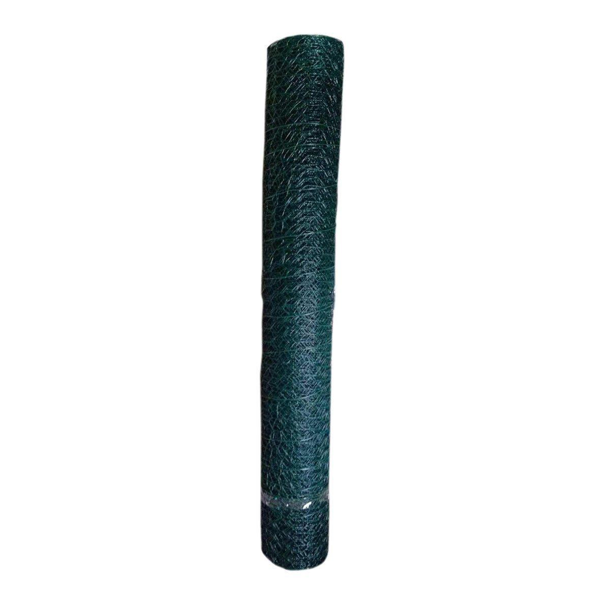 ACCADEMIA_61 Rete Metallica Esagonale Verde 0,5x10 M Maglia 25 Mm Filo 1 Mm