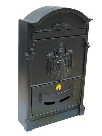 cassetta postale per esterno alubox residence alluminio nero 26x41x9 cm (lxhxp)