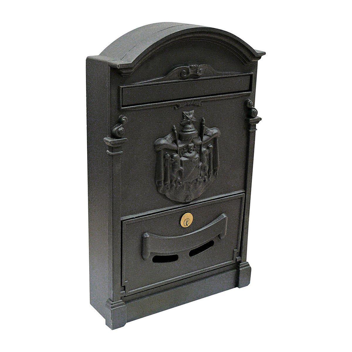 cassetta postale per esterno alubox residence alluminio ghisa 26x41x9 cm (lxhxp)