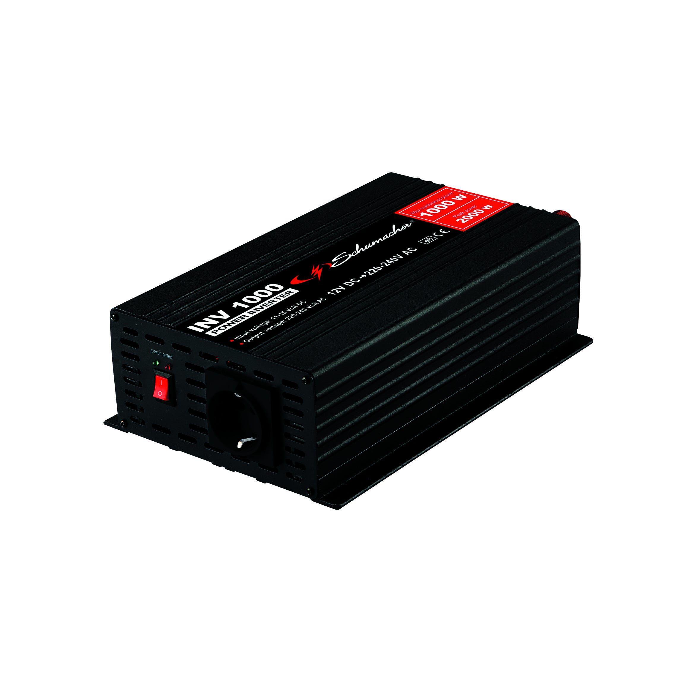 Convertitore Corrente 1000 W Continui 12-220 V Frequenza 50/60 Hz