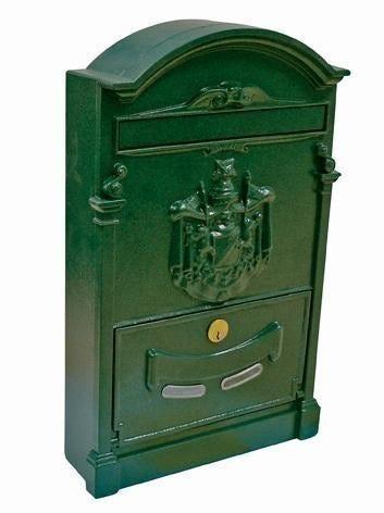 cassetta postale per esterno alubox residence alluminio verde 26x41x9 cm (lxhxp)