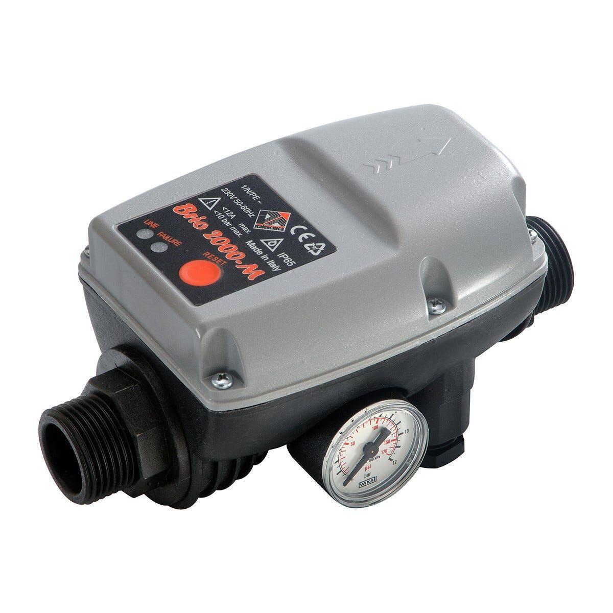 ITALTECNICA Pressoflussostato Regolabile  Brio 2000-M 1-3,5 Bar Attacco M 1''