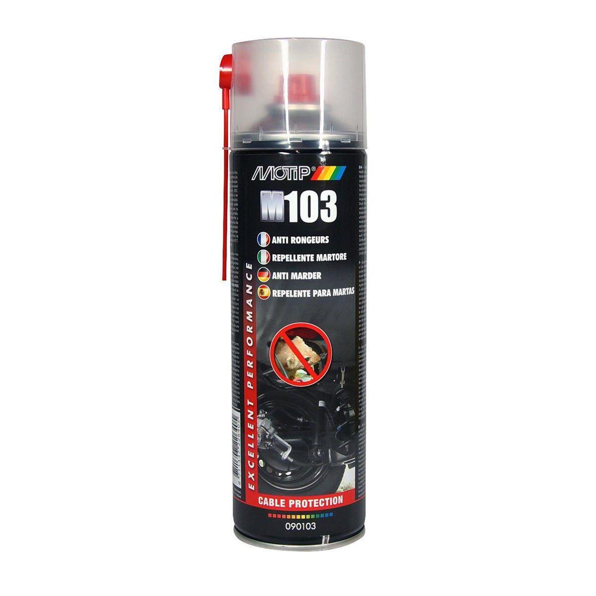 MOTIP Repellente Martore Spray 500 Ml  Trasparente Inodore Protegge Cavi E Tubi