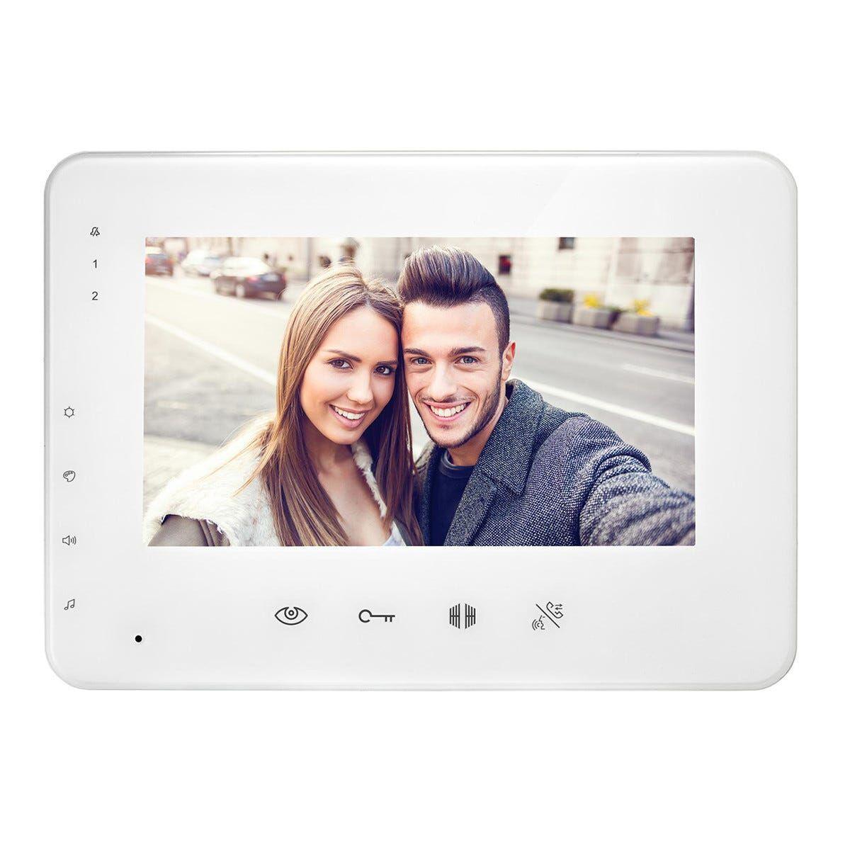 videocitofono supplementare urmet 7'' soft touch per kit 10069159 color bianco